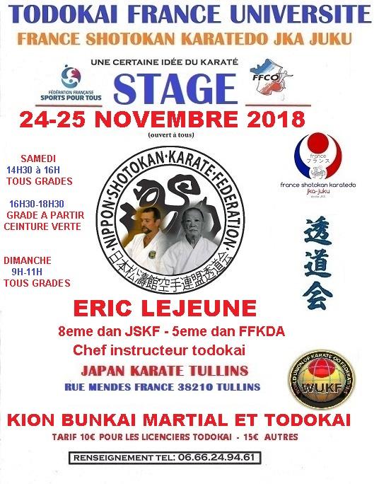 Stage 24-25 novembre 2018